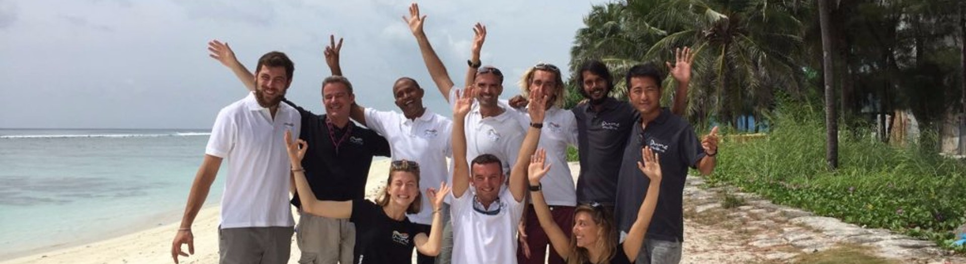 The Team in the Maldives