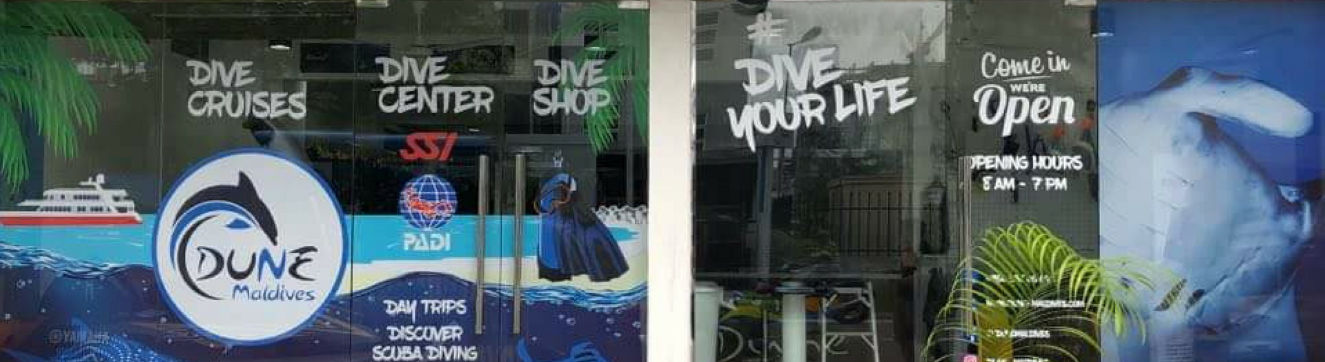 Diving center in Maldives